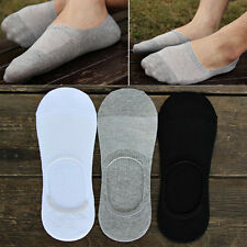 LOT 6 Pairs Men Loafer Boat Invisible No Show Nonslip Liner Low Cut Cotton Socks