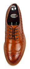 HANDMADE Men's Leather Oxfords Wingtip Derby Blucher Brown Casual Shoes 968