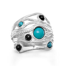 Multistone Sterling Silver Ring Made in Israel
