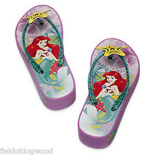 NWT Disney Store Princess Ariel Flip Flops patform Sandals Shoes 9/10 11/12 13/1