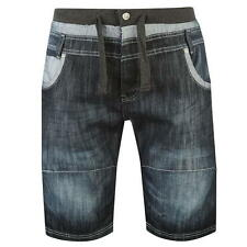 No Fear Mens Double Waist Denim Shorts Dark Wash New With Tags