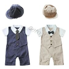 Newborn Kids Baby Boy Infant Outfits Jumpsuit Romper Bodysuit Gentleman Clothes!
