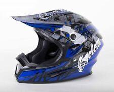 Cyclone ATV MX Motorcross Dirt Bike Quad Offroad Helmet Blue