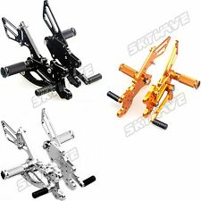 Honda CBR 600 RR RR7 RR8 Rear Sets Footrests Footpegs Rearsets Adjustable New