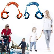 Kid Baby Anti-Lost Toddler Safety Harness Walk Wire Wrist Rope Keeper Leash New~