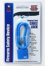 "DAC Hardened Steel Cable Firearm Safety Lock -- 15"" or 60"" long"