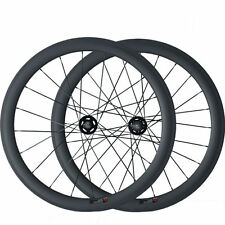 700C 23mm width 50mm Tubular 3K Carbon Wheels Bicycle Track Fixed Gear Wheelset