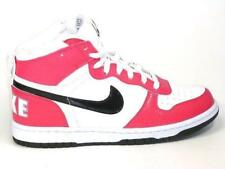 Girls BIG NIKE HIGH LE (GS) White/Pink Trainers 344578 109 UK 5.5 EUR 38.5 US