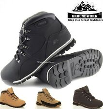 MENS GROUNDWORK SAFETY STEEL TOE CAP BOOTS LEATHER SHOES WORK SAFETY TIMBERLAND