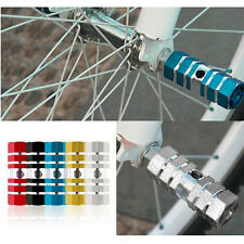 2pcs  BMX Mountain BMX Bike Bicycle Axle Pedal Alloy Foot Stunt Pegs Cylinder