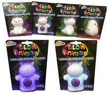 Glow Animals With Multi Coloured Flashing Led Light 4 Assorted Styles Great Gift