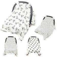 Muslin Baby Car Seat Canopy Swaddle Stroller Dustproof Shading Cover Blanket