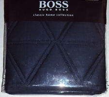 Hugo Boss Tribeca NWT $70 Quilted Pillow Sham, Euro or Standard, Navy Blue, NIP