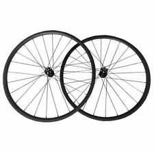 New 24mm Clincer Carbon Wheels Bike Bicycle Disc Brake Hubs Cyclocross Wheelset