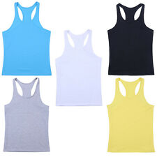 New Gym Men Muscle Sleeveless Shirt Tank Top Bodybuilding Sport Fitness Vest HOT