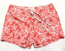 """*NEW Water Girl Patagonia Board Shorts Women's 4"""" Inseam Red Pink Floral 8 M"""