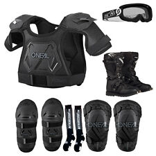 Kids Pee Wee Chest Protector, Knee Guards, Elbow Guards, Goggle Boots Sock Combo