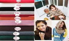 New Unisex Winter Knitted Crochet Long Tube Snood Scarf Shawl Neck Warmer