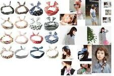Vintage Wire Headband Head Hair Band Head Wrap Scarf Various Styles