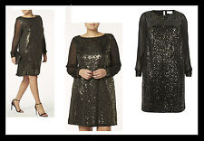 Ex Dorothy Perkins Party Sequin Shift Dress PLUS Size 20-28 yours be evans LOOK
