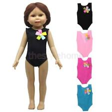 MagiDeal Flower Sleeveless Swimwear Swimsuit Clothes for 18'' American Girl Doll