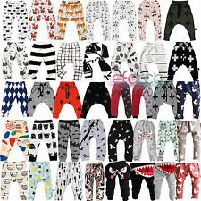 Infant Baby Boys Girls Harem Pants Trousers Toddlers Jogging Bottoms Sweatpants