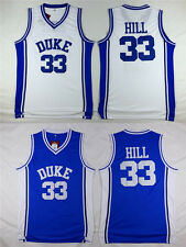 Grant Hill #33 NCAA Duke Men Blue Devils Retro Stitched Basketball Jersey S-2XL