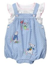 NWT Gymboree Peter Rabbit Romper set 0 3 6 12 18 24mo Baby Girl