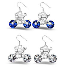 Earring New Women Gift 1Pair Jewelry Design Earring Crystal Bike Bicycle