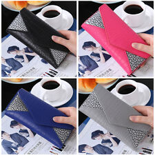 Women Lady Long Leather Trifold Card Wallet Clutch Checkbook Purse Handbag