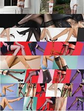 Fishnet Scarlet tights Whale net Hold Ups Stockings One Size Various New Styles