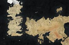 Game of Thrones - Westeros / World Map - Art Print Poster (FREE LAMINATING)