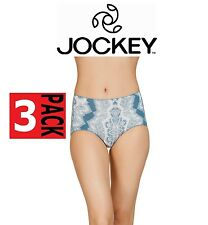 3 x WOMENS JOCKEY NO PANTY LINE PROMISE TACTEL FULL BRIEF High Waisted Underwear