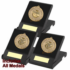 Longest Drive & 2 Nearest the Pin Medals in Presentation Boxes Golf Trophy Award