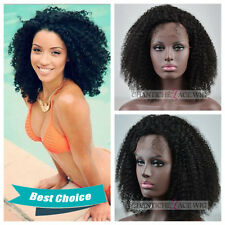 Indian Remy Human Hair Lace Front Wigs Afro Kinky Curly Full Lace Wig For Women