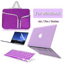 Laptop Sleeve Bag+Matte Hard Case+Keyboard Cover Macbook Pro/Air/Retina 11/13/15