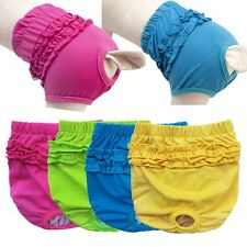 Pet Dog Diaper Female Reusable Washable Sanitary Pants Diaper Cotton Underwear