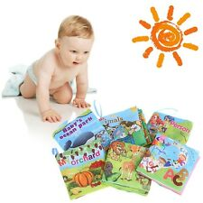 Baby Soft Cloth Books Kids Intelligence Development Learn Pictures Cognize Book