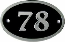 Chrome Oval House Numbers 1 to 999 available (5 colours)