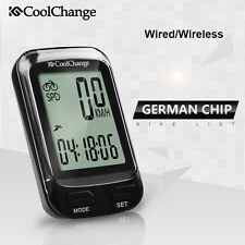 Wired/Wireless Bicycle Bike Cycling LCD Digital Computer Speedometer Odometer