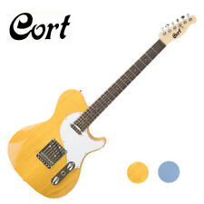 Cort M-Classic TC Telecaster Tele Manson Ash Yellow Blue Blonde Electric Guitar