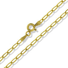 9CT YELLOW SOLID GOLD DIAMOND CUT CURB RADA LINK CHAIN PENDANT NECKLACE GIFT BOX