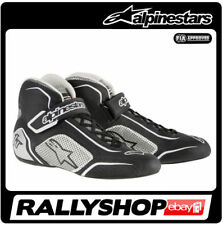 FIA ALPINESTARS race shoes TECH 1-T BLACK Silver 1T NEW 2017 racing rally BOOTS