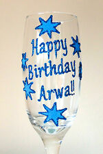 Personalised 18th Birthday Gift For Her Champagne Flute Prosecco Glass 21st 30
