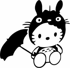 Hello Kitty - Totoro - Vinyl Car Window and Laptop Decal Sticker