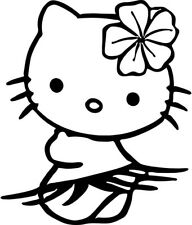 Hello Kitty - Hula Hawaii - Vinyl Car Window and Laptop Decal Sticker