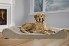 FurHaven Microvelvet Luxe Lounger Contour Orthopedic Dog Bed Pet Bed