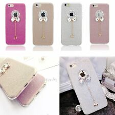 Soft TPU Bling Crystal Shockproof Full Cover Case for Apple iPhone 6 6S 4.7 inch