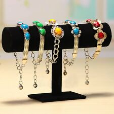 Velvet T-Bar Jewelry Rack Bracelet Necklace Stand Organizer Holder Display DY