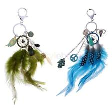 Vintage Key Finder Keyring Key Chain Charm Feather Dream Catcher Phone Decor
